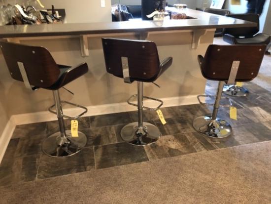 Wood/metal bar stools