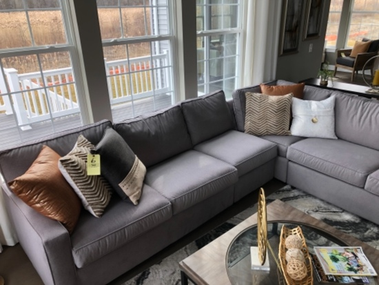 Grey 4-piece sectional sofa