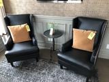 Black nail-head chairs