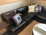 5-piece black sectional sofa
