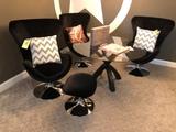 3 swivel chair set