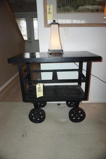 Modern industrial-style lamp table