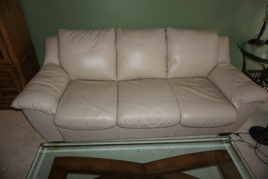 Italian leather sleeper sofa