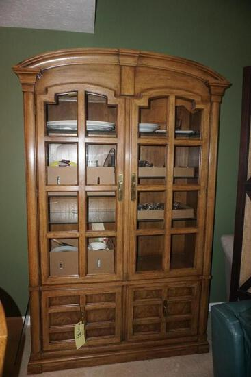 Oak 1-pc. china cupboard