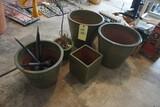 Green planter pots