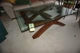Modern glass-top coffee table