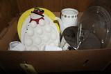 Ice bucket - Egg plates - Turkey platters - Dishes