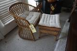 Bamboo chair - Wicker stool