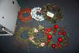 (6) Holiday wreaths