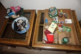 Golf figurines - (2) Lamp tables