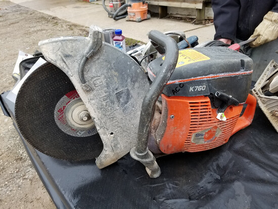 Husqvarna K760 concrete saw