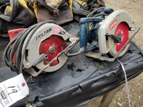 Skil and Ryobi circular saws
