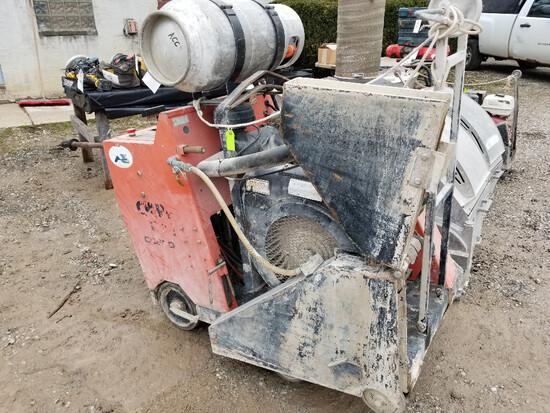 Core Cut CC6500 65HP concrete saw, LP, 1,461 hours