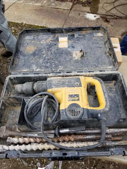 DeWalt SDS hammer drill with bits