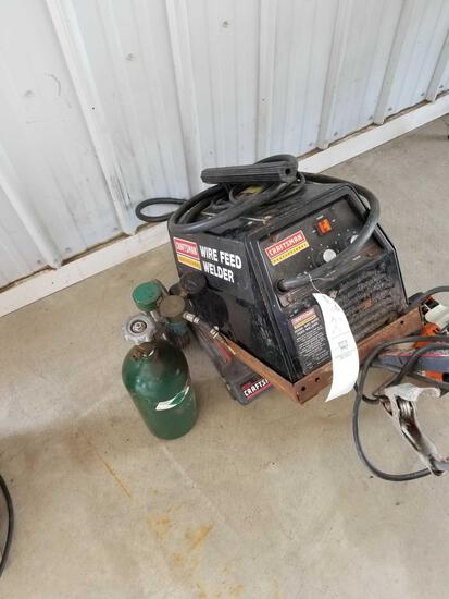 Craftsman professional wire feed welder on cart