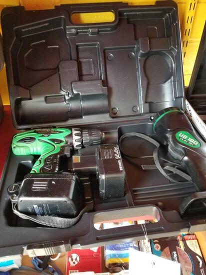 Hitachi 14.4 drill and light, works, no charger