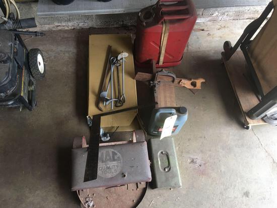 Metal Fuel Can-Tie downs-Miter Box-MAC Stool