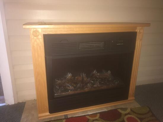 Heat Surge oak electric fireplace