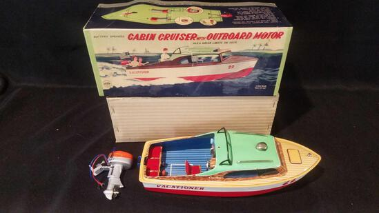 Marx cabin cruiser with outboard motor