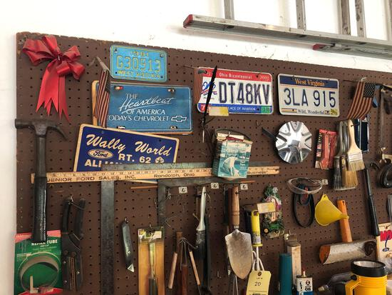 Pegboard contents