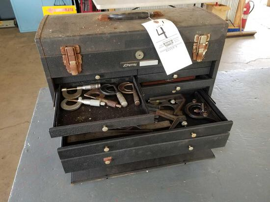 JCPenny machinist chest with tools