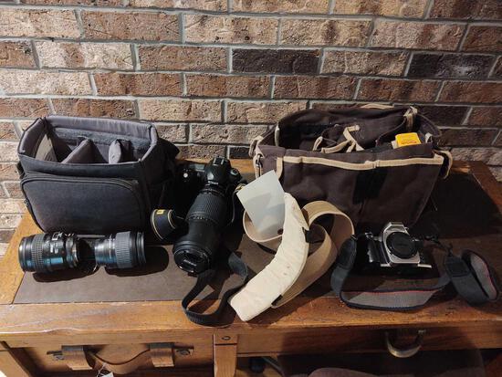 Nikon Camera w/ Extra Lenses & Nikon N65 Camera