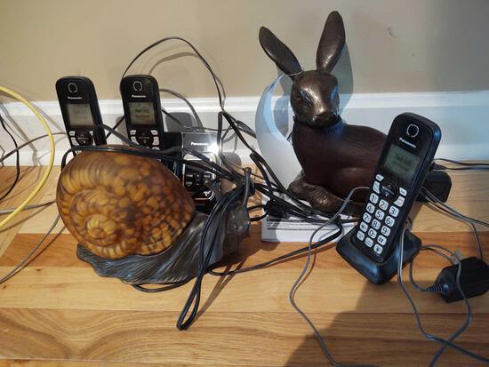 Panasonic Phones, Lighted Bunny & Lighted Snail