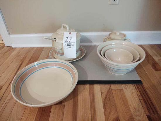 Banded Crockware