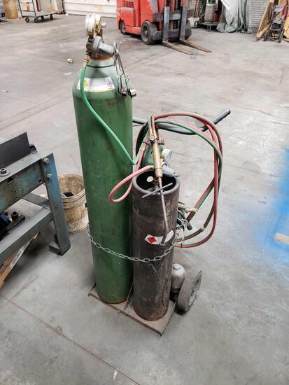 Acetylene Torches, Gauges, Torches, Cart