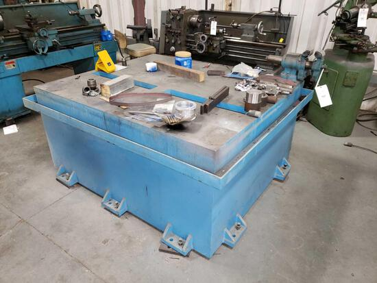 Heavy Duty Steel Layout Table with Vise