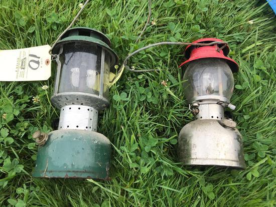 Pair of Coleman lanterns
