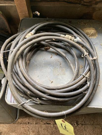 PVC, fencer, trash cans, air hose