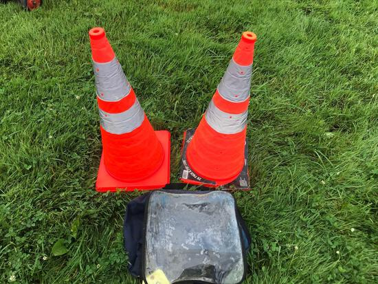Two 28inch cones