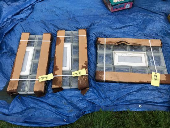 3 New glass block windows