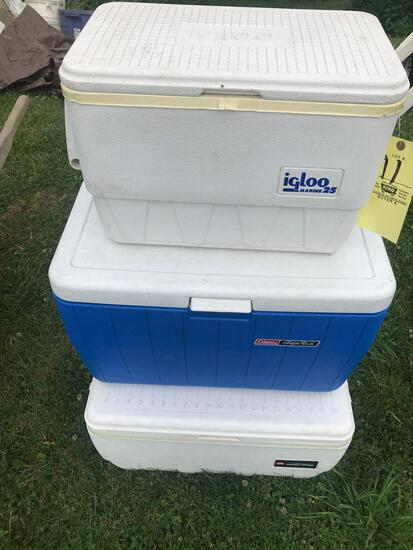 3 coolers