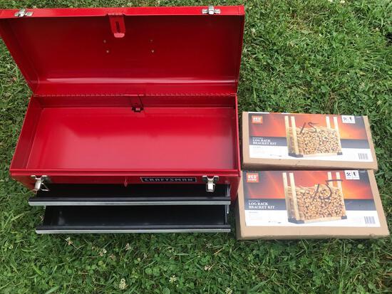 Toolbox, two log rack bracket kits