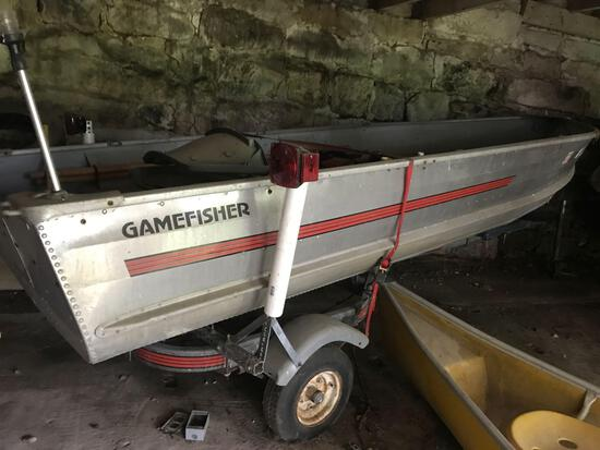 13ft aluminum boat with trailer