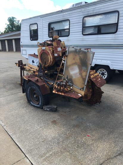 Rayco Stump Cutter. 4-cylinder Wisconsin gas engine. No key