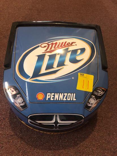 Miller Lite Dodge Charger mini plastic cooler