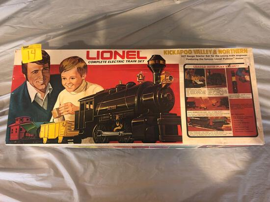 Lionel complete electric train set Kickapoo valley and northern 027 gauge