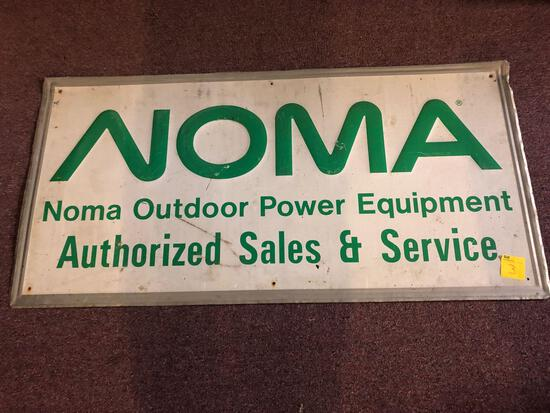 Noma Outdoor Power Equipment Authorized Sales and Service metal sign