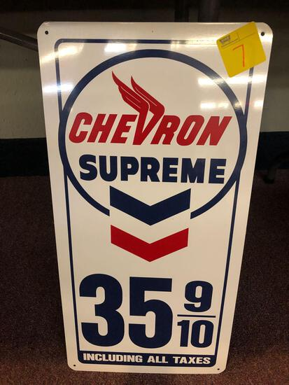 Chevron Supreme 35 9/10 Including all taxes metal sign