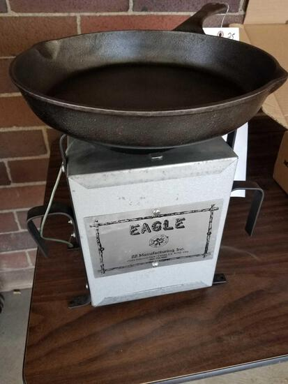 Eagle portable fire pit and cast iron skillet
