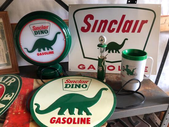Sinclair gasoline advertising.