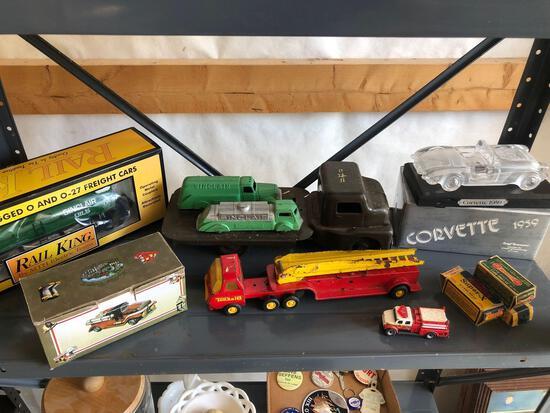 Sinclair toys, Rail King oil tanker, '59 Corvette display
