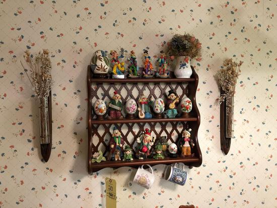 Shelf w/ K's Collection clowns
