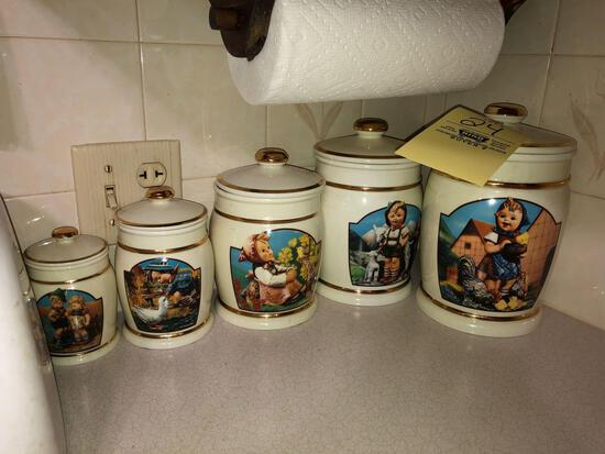 Hummel canister collection, toaster