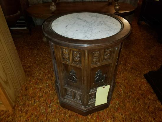 Round Marble Top Side Stand