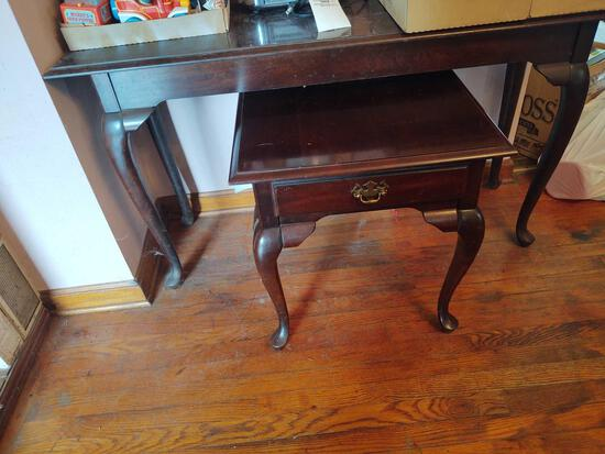 Cherry Sofa Table , Coffee Table & 2 End Tables w/ Queen Ann Style Legs