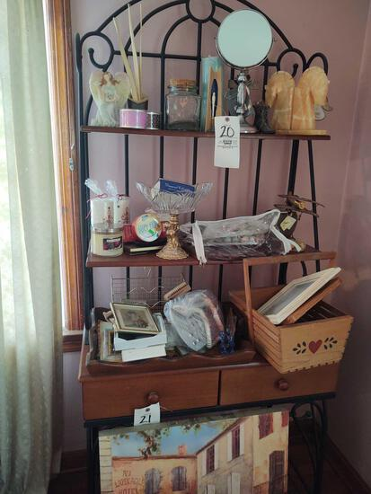Contents of Baker's Rack, Inc. Pictures, Candles, Alabaster Style Horse Book Ends & Decor